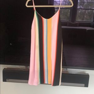 Striped colorful sun dress